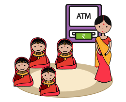 Refresher sessions, guided bank/ATM visits